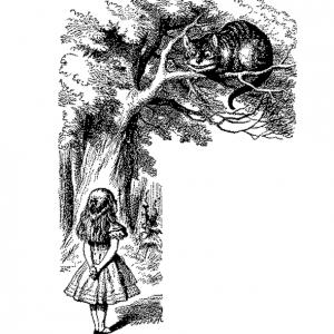 23. Alice speaks to Cheshire Cat